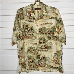 Tori Richard Hawaiian Button Down Shirt Size Large